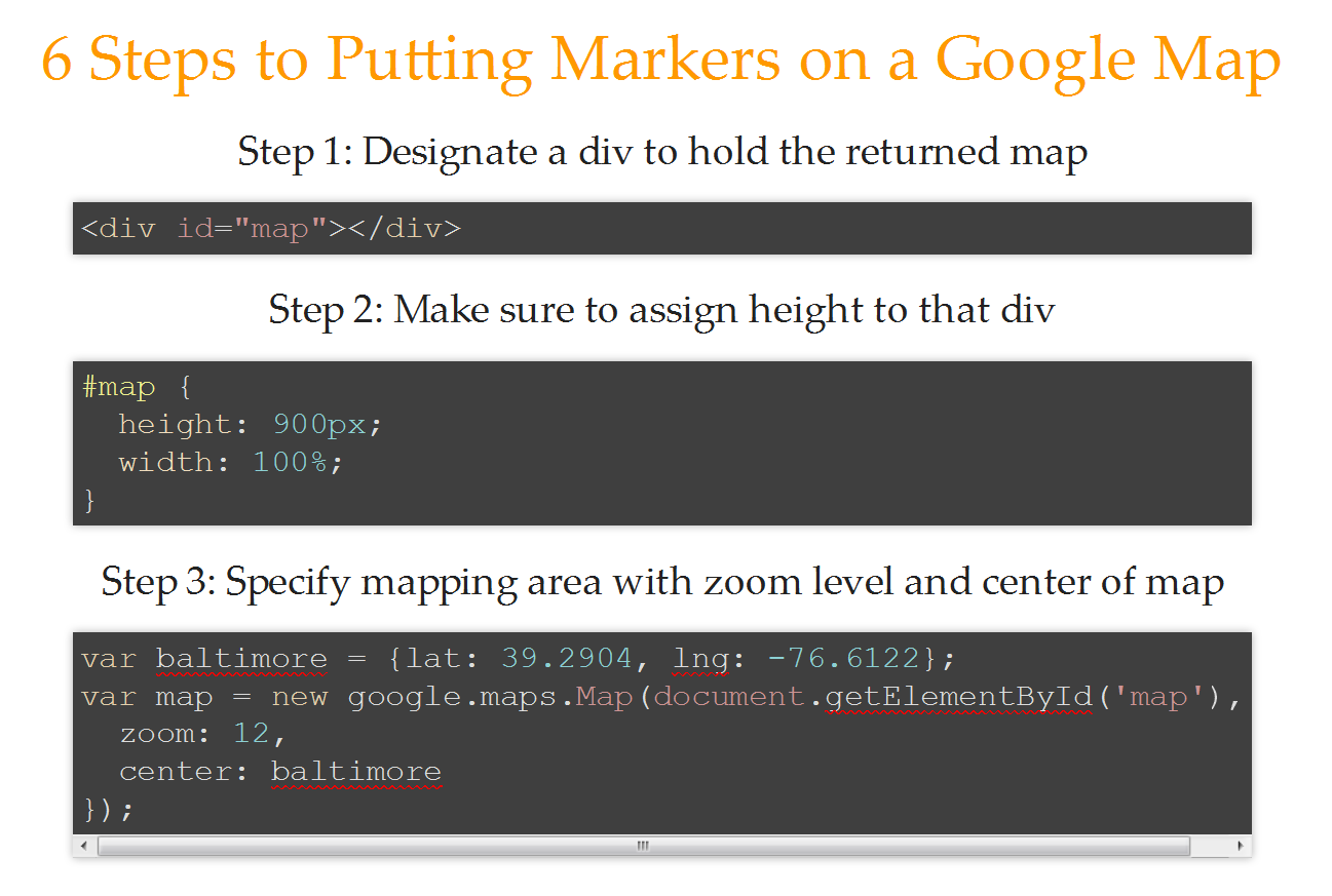 Six steps to visualize geocoded data on a google map